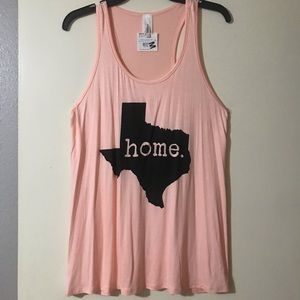 Tops - NWT coral color Texas tank size md